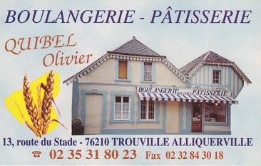 la boulangère de Trouville-Alliquerville passe du mardi au vendredi de 10h30 à 11h00 sur la place de l'école.